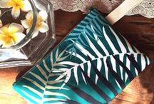 www.valeriemoser.com / Handmade clutch bags / beach bag / pareo
