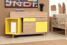 Pandora | Sideboard / With straight lines and touches of vibrant colour mark this sideboard that stands out for its dynamic details. The yellow box assumes itself as the most versatile and fun element.