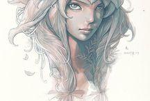 Fantastique, féerique / Elfe, fée, créatures mystiques