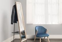 Hide&Seek | Mirror / a multi-functional piece designed especially for sleeping area. Its steel structure stands the rectangular wooden mirror frame, and at the same time hide and evolves in the back new functions like hanging coats, storage shoes and small personal belongings. Hide&seek is singular piece that complete with elegance the look of the living space.
