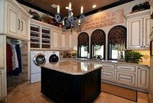 Specialized Spaces / Storage and organization options for your wine cellar, wet bar, kitchen and laundry rooms.
