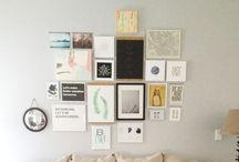 Gallery Wall / Creating the perfectly imperfect gallery wall