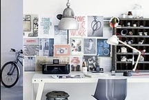 Studio Inspiration / Inspiring images for a home creative studio and workshop.