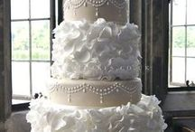 lace, dress and ruffle cakes / by Linda Mashni