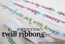 Ribbon labels / by Diane Peterson