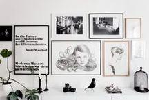 Display / Framing art, hanging art, curating art, displaying art - all in an artful way!