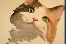 Cats - Calico, Maine Coon+ Arty / by Stony Hill Farm Greenhouses, LLC