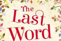 The Last Word / Visual ideas and book covers I like in prep for publication by @carinaUK