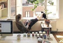 Interiors : workspace / A peek at gorgeous, inspiring workspaces.