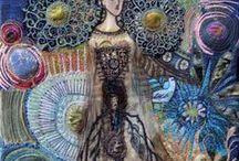 Broderie / la femme / Dans le cadre de la journée internationale de la femme le 8 mars 2015, j'organise une expo virtuelle sur le thème de la femme, en broderie et arts textiles. Ce tableau a pour but de regrouper les idées et inspirations de chacune !