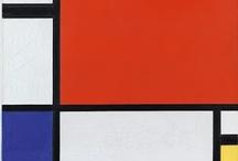 Mondrian / Mondrian-esque things.  :)