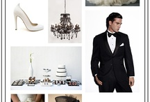 Panda's & Cow's Wedding Design / A selection of inspirations using the colours White and Black for an elegant and chic wedding design.