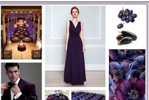 Aubergines and Black Grapes Wedding Design / Aubergines and Black Grapes is a colour board using dark coloured purples for a wedding design.  Using these tonnes for any wedding will instantly make your wedding look well designed and chic as this colour looks stunning and elegant.