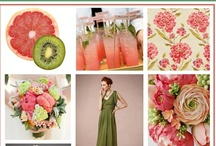 Grapefruit and Kiwi's Wedding Design / I love the shades of coral from the bitter grapefruit and the greens from the tasty kiwi!  As these colours make everything look fresh and young, perfect for summer weddings, I thought I'll create a board using them.