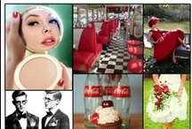 Fifties Retro Wedding Design / This is a retro inspiration of reds, diners and the 1950's