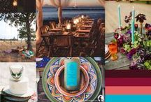 S&S Wedding Ideas (Bohemian and Moroccan wedding)  / A board with photos/inspiration for a couples wedding on the beach, who are having a bohemian theme with a little bit or moroccan spice.