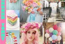 A Crazy Bright Pastel Wedding Design / Wedding ideas for a BOHO London pastel rustic wedding