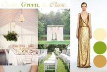 A Clean, Green & Classic Wedding Design / Here are my clients ideas for a clean and classic wedding at their stately home, for a beautiful marquee wedding.  Using greens and neutrals for the colour design.