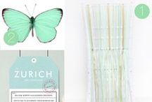 Minty Fresh Wedding Design / Here is a design board for one of my couples marrying in Cyprus!  She wants mint green wedding, with a simply timeless and stylish design.