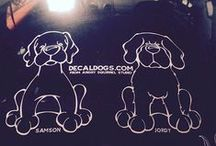 Decal Dogs / Car Window Decals from Angry Squirrel Studio