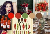 Chilli Pepper wedding design / Here is inspiration for a wedding I'm organising for a client who is looking for a fun country wedding, and has a massive love for chilli's!