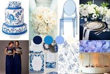 Longleat blue Design: Cheryl and Jon / A beautiful design board for a wedding at Longleat
