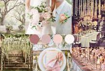 Dreamy Secret Garden Wedding Design / A board for a couple looking to have a magical/dreamy secret garden wedding design focusing on whites and blush colours.