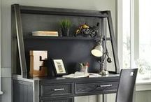 Organized Office at Morris Home / From a small desk for paying bills to a complete home office, here are some of our favorite looks and tips for staying organized working from home.