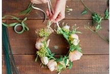D.I.Y. : Floral crowns, wreaths & decoration / floral decor, real flowers, wreath, Floral crown
