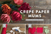 D.I.Y. :  paper projects / How to make paper flowers #diy