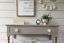 painted furniture / Lovely painted furniture inspiration
