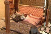 Feminine Home Decor / Black,Pink,White & Glitter
