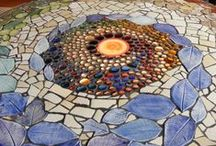 Mosaics / These are fun, colorful tiles & glass pieces! / by Nancy Ash