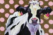Love those crazy Cowz! / From painting and draws and cartoons and more.  I love those crazy cowz! / by Mina