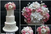 Wedding Cakes - Inspiration #wedding #Cakes / A collection of wedding cake from all over. Used to inspire when cake decorating #cake #decorating