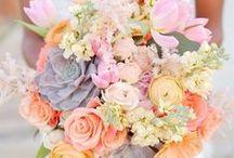 Karen's August wedding / Mixed pastel flowers for an August wedding.