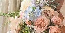 R & N's July wedding / Wedding flowers in summery pastel shades.
