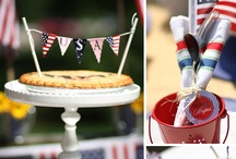 Patriotic Party Ideas / Fun party ideas for all your red, white and all American blue events!