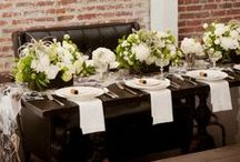 Flowers. Tablescapes