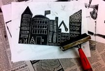 Ink Blotting / Inspiration, ideas and resources for all types of relief printing - from linocut and woodcut to monoprint and stamping. Ink it and print it!