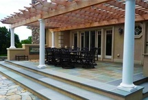 Pergola Designs / Get new ideas for designing a pergola or patio cover, palapa or arbor, by visiting: http://www.landscapingnetwork.com/pergolas/ / by Landscaping Network