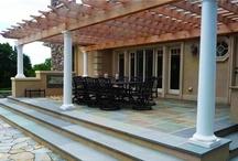 Pergola Designs / Get new ideas for designing a pergola or patio cover, palapa or arbor, by visiting: http://www.landscapingnetwork.com/pergolas/
