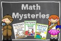 Math Mysteries  / Find your favorite math mysteries for your grade level right here! / by Hilary Lewis - Rockin' Teacher Materials