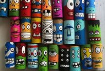 Roll With It / Creative crafts using the humble cardboard tube. Toilet-paper tube art, toys, DIY and tutorials - these activities are great fun for the kids and recycle this staple of the art-room cupboard in a gazillion inventive ways.