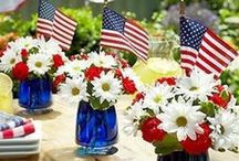 Red, white and bloom! / Patriotic Decor with a green twist!