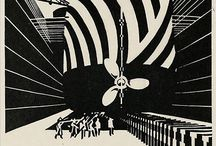 Vorticists & Camoufleurs / A curation of Vorticist works and examples of the movement's influence on camoflague.