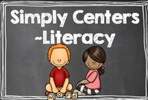 Simply Centers - Literacy / by Hilary Lewis - Rockin' Teacher Materials