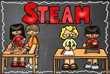 STEAM / Activities to engage little scientists with technology, engineering, and math / by Hilary Lewis - Rockin' Teacher Materials
