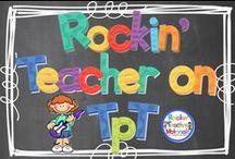 Teachers Pay Teachers-Rockin' Teacher Materials / Rockin' Teacher Materials educational content and products on Teachers Pay Teachers / by Hilary Lewis - Rockin' Teacher Materials