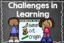 Challenges in Learning / Kids with learning disabilities and other challenges often need a different way of looking at the world. What can we do to help them? / by Hilary Lewis - Rockin' Teacher Materials